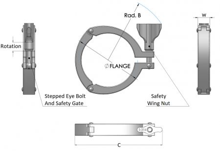 Stainless Steel Safety Clamp SAF Type