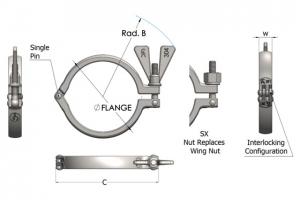 Stainless Steel Dairy Industry Clamps