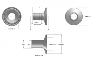 Stainless Steel Pipe Hose Tails