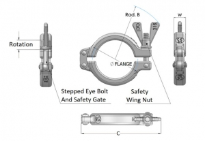 Stainless Steel Safety Clamps